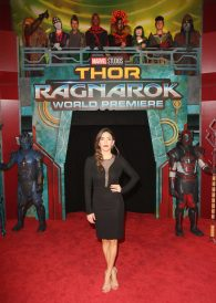 "HOLLYWOOD, CA - OCTOBER 10: Actor Natalia Cordova-Buckley at The World Premiere of Marvel Studios' ""Thor: Ragnarok"" at the El Capitan Theatre on October 10, 2017 in Hollywood, California. (Photo by Jesse Grant/Getty Images for Disney) *** Local Caption *** Natalia Cordova-Buckley"