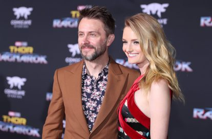 "HOLLYWOOD, CA - OCTOBER 10: Actors Chris Hardwick (L) and Lydia Hearst at The World Premiere of Marvel Studios' ""Thor: Ragnarok"" at the El Capitan Theatre on October 10, 2017 in Hollywood, California. (Photo by Rich Polk/Getty Images for Disney) *** Local Caption *** Chris Hardwick; Lydia Hearst"