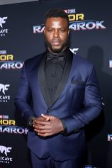 "HOLLYWOOD, CA - OCTOBER 10: Actor Winston Duke at The World Premiere of Marvel Studios' ""Thor: Ragnarok"" at the El Capitan Theatre on October 10, 2017 in Hollywood, California. (Photo by Rich Polk/Getty Images for Disney) *** Local Caption *** Winston Duke"