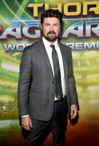 "HOLLYWOOD, CA - OCTOBER 10: Actor Karl Urban at The World Premiere of Marvel Studios' ""Thor: Ragnarok"" at the El Capitan Theatre on October 10, 2017 in Hollywood, California. (Photo by Alberto E. Rodriguez/Getty Images for Disney) *** Local Caption *** Karl Urban"