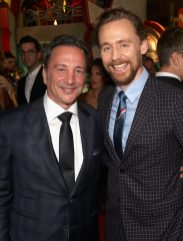 "HOLLYWOOD, CA - OCTOBER 10: Executive producer Louis D'Esposito (L) and Actor Tom Hiddleston at The World Premiere of Marvel Studios' ""Thor: Ragnarok"" at the El Capitan Theatre on October 10, 2017 in Hollywood, California. (Photo by Jesse Grant/Getty Images for Disney) *** Local Caption *** Louis D'Esposito; Tom Hiddleston"