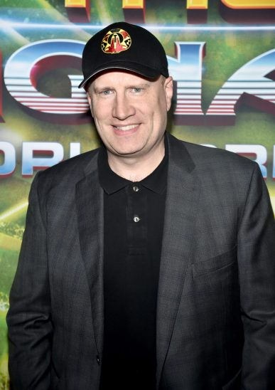 "HOLLYWOOD, CA - OCTOBER 10: Producer Kevin Feige at The World Premiere of Marvel Studios' ""Thor: Ragnarok"" at the El Capitan Theatre on October 10, 2017 in Hollywood, California. (Photo by Alberto E. Rodriguez/Getty Images for Disney) *** Local Caption *** Kevin Feige"