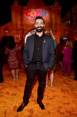 "HOLLYWOOD, CA - NOVEMBER 08: Co-Director/screenwriter Adrian Molina at the U.S. Premiere of Disney-Pixarís ""Coco"" at the El Capitan Theatre on November 8, 2017, in Hollywood, California. (Photo by Alberto E. Rodriguez/Getty Images for Disney) *** Local Caption *** Adrian Molina"