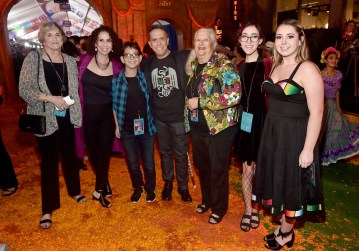 "HOLLYWOOD, CA - NOVEMBER 08: Director Lee Unkrich (C) with guests and family at the U.S. Premiere of Disney-Pixarís ""Coco"" at the El Capitan Theatre on November 8, 2017, in Hollywood, California. (Photo by Alberto E. Rodriguez/Getty Images for Disney) *** Local Caption *** Lee Unkrich"