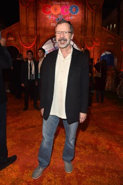 "HOLLYWOOD, CA - NOVEMBER 08: President of Pixar Animation Studios Edwin Catmull at the U.S. Premiere of Disney-Pixarís ""Coco"" at the El Capitan Theatre on November 8, 2017, in Hollywood, California. (Photo by Alberto E. Rodriguez/Getty Images for Disney) *** Local Caption *** Edwin Catmull"