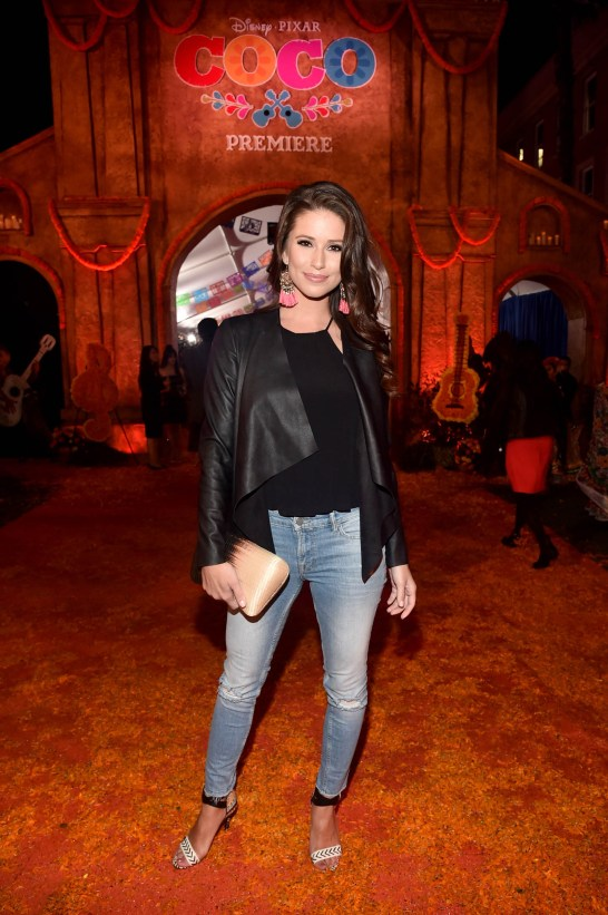 """HOLLYWOOD, CA - NOVEMBER 08: Miss USA 2014 Nia Sanchez at the U.S. Premiere of Disney-Pixarís """"Coco"""" at the El Capitan Theatre on November 8, 2017, in Hollywood, California. (Photo by Alberto E. Rodriguez/Getty Images for Disney) *** Local Caption *** Nia Sanchez"""