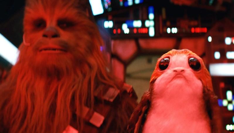 Chewbacca - Porg - Star Wars: The Last Jedi