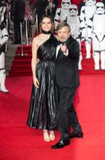 LONDON, UK DECEMBER 12: Daisy Ridley and Mark Hamill attend the European Premiere of Star Wars: The Last Jedi in the presence of HRH Duke of Cambridge and HRH Prince Harry at the Royal Albert Hall in London, UK on Tuesday 12th December 2017. *** Local Caption *** Daisy Ridley; Mark Hamill