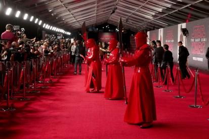 LOS ANGELES, CA - DECEMBER 09: The Praetorian Guard at Star Wars: The Last Jedi Premiere at The Shrine Auditorium on December 9, 2017 in Los Angeles, California. (Photo by Rich Polk/Getty Images for Disney) *** Local Caption *** Praetorian Guard