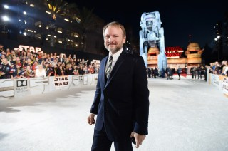 LOS ANGELES, CA - DECEMBER 09: Writer/Director Rian Johnson at Star Wars: The Last Jedi Premiere at The Shrine Auditorium on December 9, 2017 in Los Angeles, California. (Photo by Charley Gallay/Getty Images for for Disney) *** Local Caption *** Rian Johnson