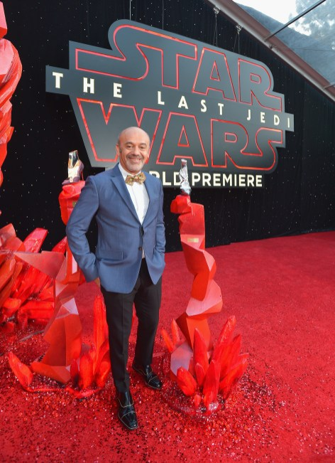 LOS ANGELES, CA - DECEMBER 09: Christian Louboutin at Star Wars: The Last Jedi Premiere at The Shrine Auditorium on December 9, 2017 in Los Angeles, California. (Photo by Charley Gallay/Getty Images for for Disney) *** Local Caption *** Christian Louboutin