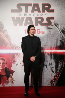 TOKYO, JAPAN - DECEMBER 06: Adam Driver attends the 'Star Wars: The Last Jedi' Japan Premiere & Red Carpet at Roppongi Hills on December 6, 2017 in Tokyo, Japan. (Photo by Christopher Jue/Getty Images for Disney) *** Local Caption *** Adam Driver