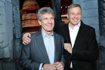Alan Horn and Bob Iger arrive on the red carpet for the world premiere of LucasfilmÕs Star Wars: The Last Jedi at the Shrine Auditorium in Los Angeles, December 9, 2017..(Photo: Alex J. Berliner / ABImages )
