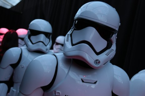 Storm Troopers arrive on the red carpet for the world premiere of LucasfilmÕs Star Wars: The Last Jedi at the Shrine Auditorium in Los Angeles, December 9, 2017..(Photo: Alex J. Berliner / ABImages ).