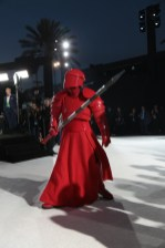 A Praetorian guard arrives on the red carpet for the world premiere of LucasfilmÕs Star Wars: The Last Jedi at the Shrine Auditorium in Los Angeles, December 9, 2017..(Photo: Alex J. Berliner / ABImages ).