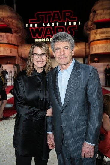 Cindy Horn and Alan Horn arrive on the red carpet for the world premiere of LucasfilmÕs Star Wars: The Last Jedi at the Shrine Auditorium in Los Angeles, December 9, 2017..(Photo: Alex J. Berliner / ABImages )