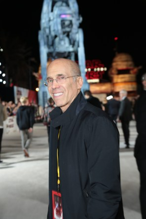 Jeffery Katzenberg arrives on the red carpet for the world premiere of LucasfilmÕs Star Wars: The Last Jedi at the Shrine Auditorium in Los Angeles, December 9, 2017..(Photo: Alex J. Berliner / ABImages )