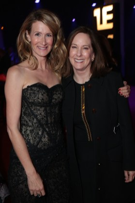 Laura Dern and Kathleen Kennedy attend the after party for the world premiere of LucasfilmÕs Star Wars: The Last Jedi at the Shrine Auditorium in Los Angeles, December 9, 2017..(Photo: Alex J. Berliner / ABImages ).