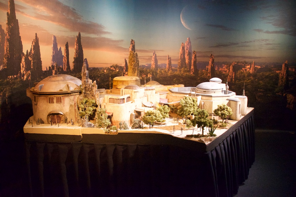 Galaxy's Edge Model Lands at Star Wars Launch Bay in Disneyland