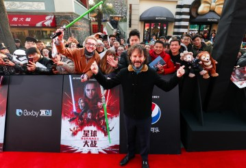 Ram Bergman attends the Shanghai premiere of the highly anticipated Star Wars: The Last Jedi.