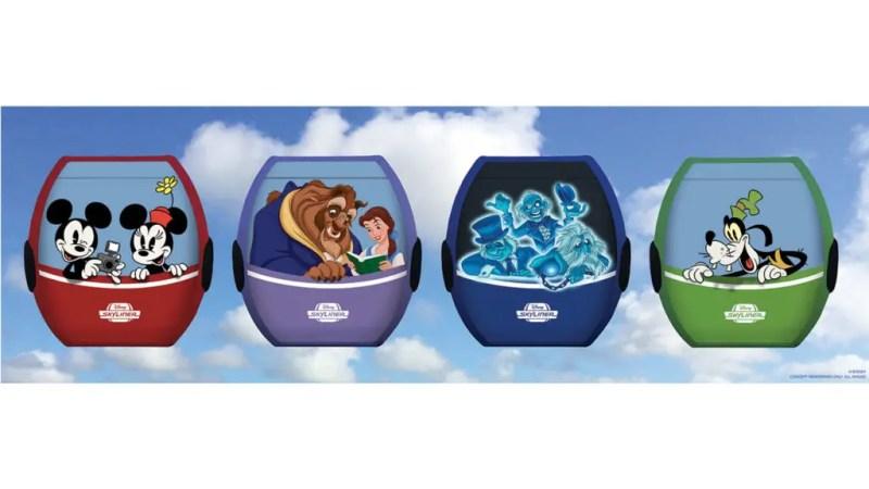 Disney Characters on the Disney Skyliner Transportation System at the Walt Disney World Resort