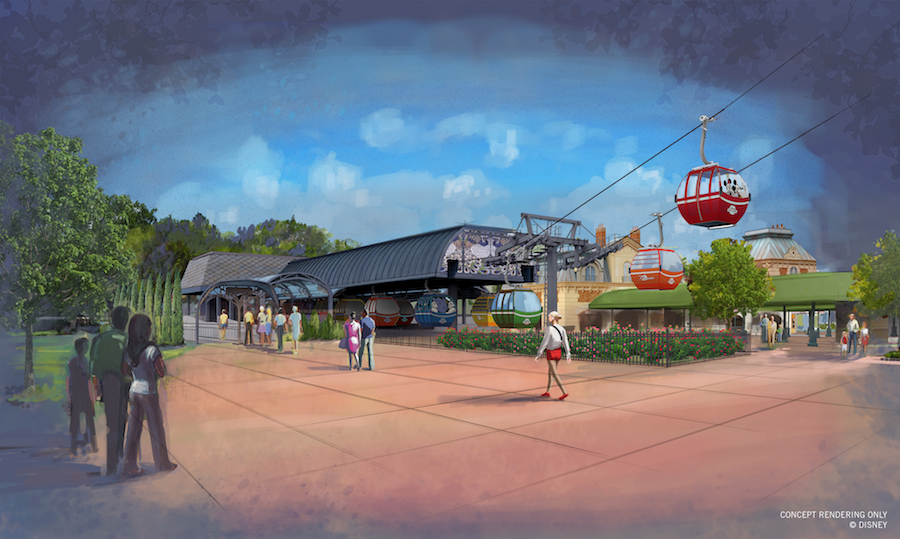 Disney Releases Images of Disney Skyliner Transportation System at Walt Disney World