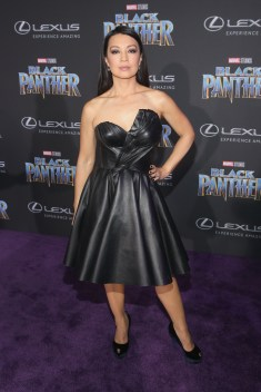 HOLLYWOOD, CA - JANUARY 29: Actor Ming-Na Wen at the Los Angeles World Premiere of Marvel Studios' BLACK PANTHER at Dolby Theatre on January 29, 2018 in Hollywood, California. (Photo by Jesse Grant/Getty Images for Disney) *** Local Caption *** Ming-Na Wen