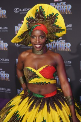 HOLLYWOOD, CA - JANUARY 29: Actor Janeshia Adams-Ginyard at the Los Angeles World Premiere of Marvel Studios' BLACK PANTHER at Dolby Theatre on January 29, 2018 in Hollywood, California. (Photo by Jesse Grant/Getty Images for Disney) *** Local Caption *** Janeshia Adams-Ginyard