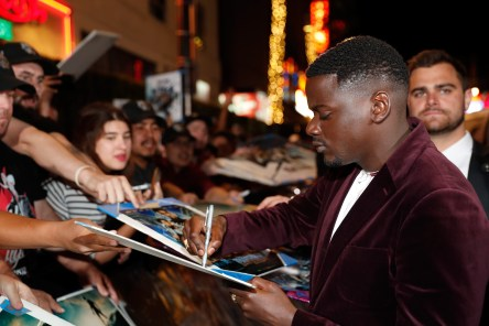 HOLLYWOOD, CA - JANUARY 29: Actor Daniel Kaluuya at the Los Angeles World Premiere of Marvel Studios' BLACK PANTHER at Dolby Theatre on January 29, 2018 in Hollywood, California. (Photo by Rich Polk/Getty Images for Disney) *** Local Caption *** Daniel Kaluuya