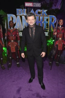 HOLLYWOOD, CA - JANUARY 29: Actor Andy Serkis at the Los Angeles World Premiere of Marvel Studios' BLACK PANTHER at Dolby Theatre on January 29, 2018 in Hollywood, California. (Photo by Alberto E. Rodriguez/Getty Images for Disney) *** Local Caption *** Andy Serkis