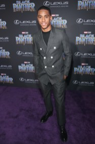 HOLLYWOOD, CA - JANUARY 29: Actor Keith Powers at the Los Angeles World Premiere of Marvel Studios' BLACK PANTHER at Dolby Theatre on January 29, 2018 in Hollywood, California. (Photo by Jesse Grant/Getty Images for Disney) *** Local Caption *** Keith Powers