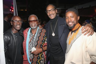 HOLLYWOOD, CA - JANUARY 29: (L-R) Actors Don Cheadle and John Kani, rapper Snoop Dogg, and actor Atandwa Kani at the Los Angeles World Premiere of Marvel Studios' BLACK PANTHER at Dolby Theatre on January 29, 2018 in Hollywood, California. (Photo by Jesse Grant/Getty Images for Disney) *** Local Caption *** Don Cheadle; John Kani; Snoop Dogg; Atandwa Kani