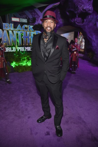 HOLLYWOOD, CA - JANUARY 29: Actor James Mathis III at the Los Angeles World Premiere of Marvel Studios' BLACK PANTHER at Dolby Theatre on January 29, 2018 in Hollywood, California. (Photo by Alberto E. Rodriguez/Getty Images for Disney) *** Local Caption *** James Mathis III