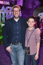HOLLYWOOD, CA - JANUARY 29: Composer Michael Giacchino (L) and Griffy Giacchino at the Los Angeles World Premiere of Marvel Studios' BLACK PANTHER at Dolby Theatre on January 29, 2018 in Hollywood, California. (Photo by Alberto E. Rodriguez/Getty Images for Disney) *** Local Caption *** Michael Giacchino; Griffy Giacchino