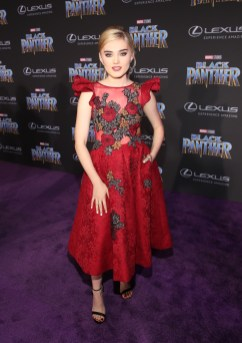 HOLLYWOOD, CA - JANUARY 29: Actor Meg Donnelly at the Los Angeles World Premiere of Marvel Studios' BLACK PANTHER at Dolby Theatre on January 29, 2018 in Hollywood, California. (Photo by Jesse Grant/Getty Images for Disney) *** Local Caption *** Meg Donnelly
