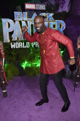 HOLLYWOOD, CA - JANUARY 29: Actor Mike Colter at the Los Angeles World Premiere of Marvel Studios' BLACK PANTHER at Dolby Theatre on January 29, 2018 in Hollywood, California. (Photo by Alberto E. Rodriguez/Getty Images for Disney) *** Local Caption *** Mike Colter