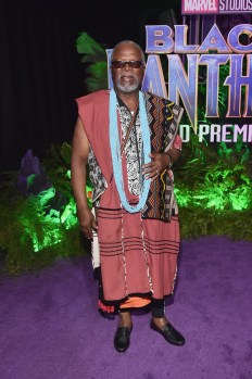 HOLLYWOOD, CA - JANUARY 29: Actor John Kani at the Los Angeles World Premiere of Marvel Studios' BLACK PANTHER at Dolby Theatre on January 29, 2018 in Hollywood, California. (Photo by Alberto E. Rodriguez/Getty Images for Disney) *** Local Caption *** John Kani
