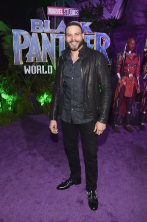 HOLLYWOOD, CA - JANUARY 29: Actor Ian Verdun at the Los Angeles World Premiere of Marvel Studios' BLACK PANTHER at Dolby Theatre on January 29, 2018 in Hollywood, California. (Photo by Alberto E. Rodriguez/Getty Images for Disney) *** Local Caption *** Ian Verdun