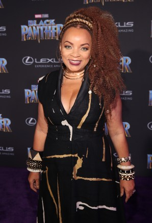 HOLLYWOOD, CA - JANUARY 29: Costume designer Ruth E. Carter at the Los Angeles World Premiere of Marvel Studios' BLACK PANTHER at Dolby Theatre on January 29, 2018 in Hollywood, California. (Photo by Jesse Grant/Getty Images for Disney) *** Local Caption *** Ruth E. Carter