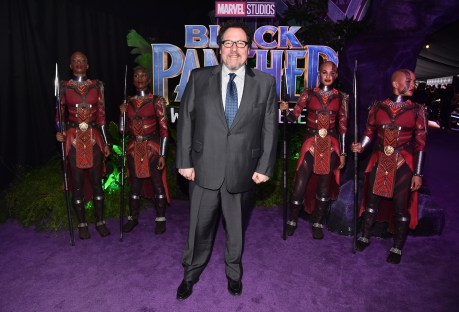 HOLLYWOOD, CA - JANUARY 29: Director/actor Jon Favreau at the Los Angeles World Premiere of Marvel Studios' BLACK PANTHER at Dolby Theatre on January 29, 2018 in Hollywood, California. (Photo by Alberto E. Rodriguez/Getty Images for Disney) *** Local Caption *** Jon Favreau