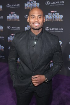 HOLLYWOOD, CA - JANUARY 29: Actor Corey Calliet at the Los Angeles World Premiere of Marvel Studios' BLACK PANTHER at Dolby Theatre on January 29, 2018 in Hollywood, California. (Photo by Jesse Grant/Getty Images for Disney) *** Local Caption *** Corey Calliet