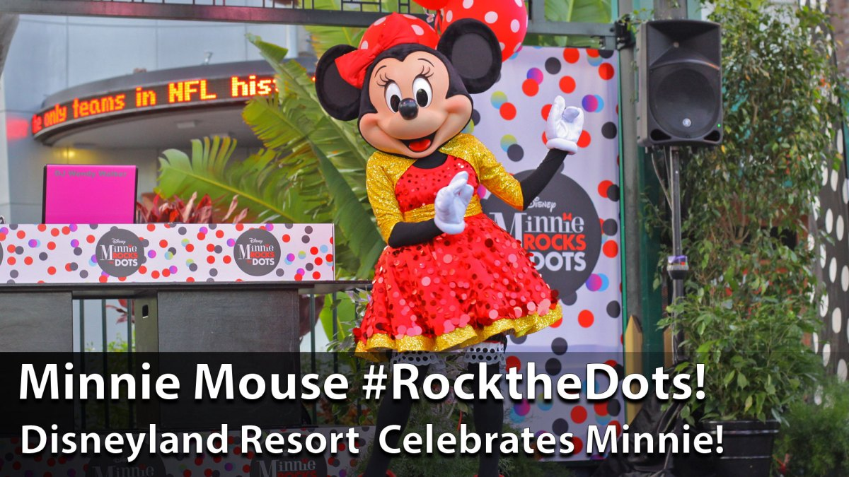 Minnie Mouse Arrives at Downtown Disney for #ROCKTHEDOTS - Sundays with DAPs