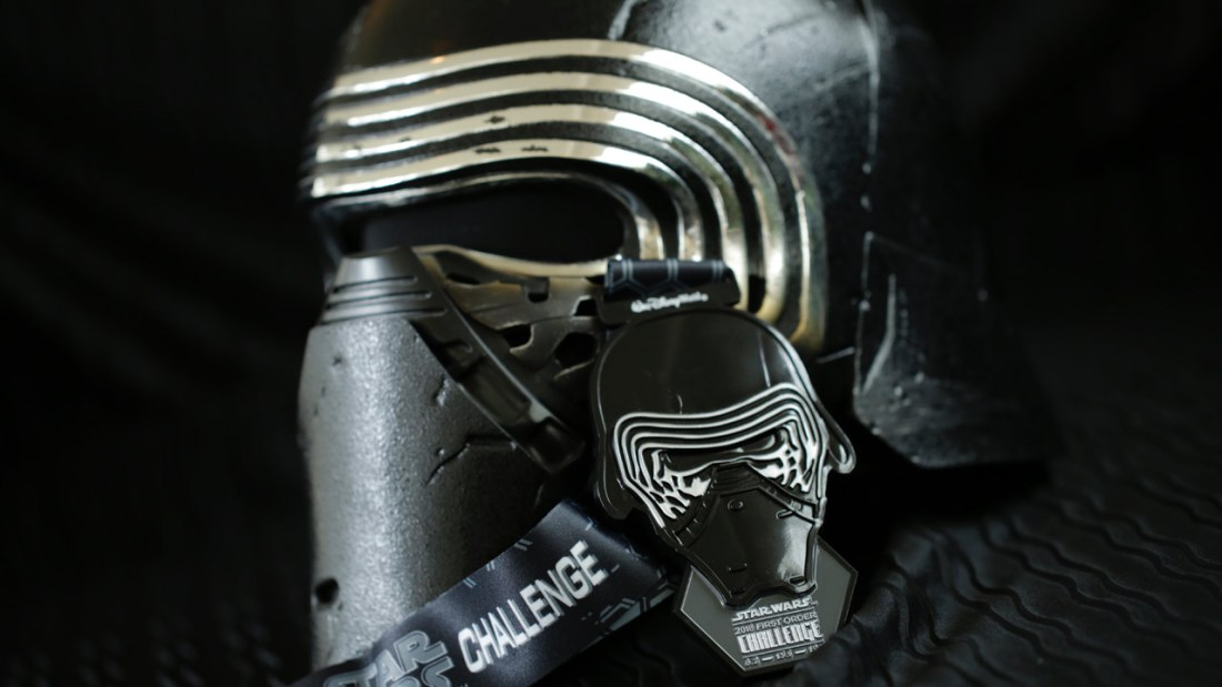 Kylo Ren – First Order Challenge (awarded to those who run both the Dark Side 10K and Dark Side Half Marathon)