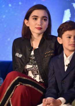 HOLLYWOOD, CA - FEBRUARY 25: Actors Rowan Blanchard (L) and Deric McCabe participate in the press conference for Disney's 'A Wrinkle in Time' in Hollywood, CA on March 25, 2018 (Photo by Alberto E. Rodriguez/Getty Images for Disney) *** Local Caption *** Rowan Blanchard; Deric McCabe