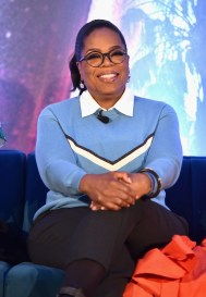HOLLYWOOD, CA - FEBRUARY 25: Actor Oprah Winfrey participates in the press conference for Disney's 'A Wrinkle in Time' in Hollywood, CA on March 25, 2018 (Photo by Alberto E. Rodriguez/Getty Images for Disney) *** Local Caption *** Oprah Winfrey