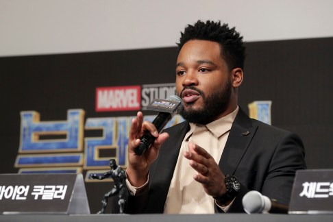 SEOUL, SOUTH KOREA - FEBRUARY 05: Director Ryan Coogler attends the press conference for the Seoul premiere of 'Black Panther' on February 5, 2018 in Seoul, South Korea. (Photo by Han Myung-Gu/Getty Images for Disney) *** Local Caption *** Ryan Coogler