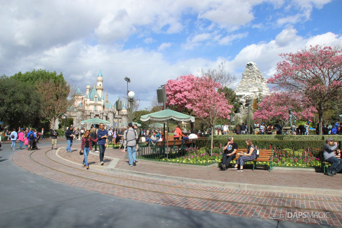 Walls Come Down Around Disneyland's Hub as Spring Arrives
