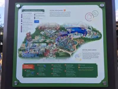 2018 Disney California Adventure Food and Wine Festival Map