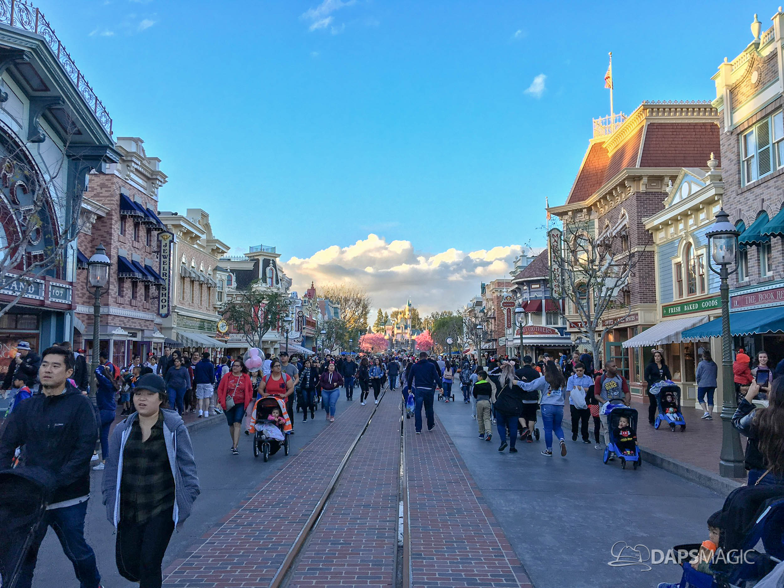 Walls Come Down on Main Street, USA at Disneyland Unveiling New Tracks and New Brick