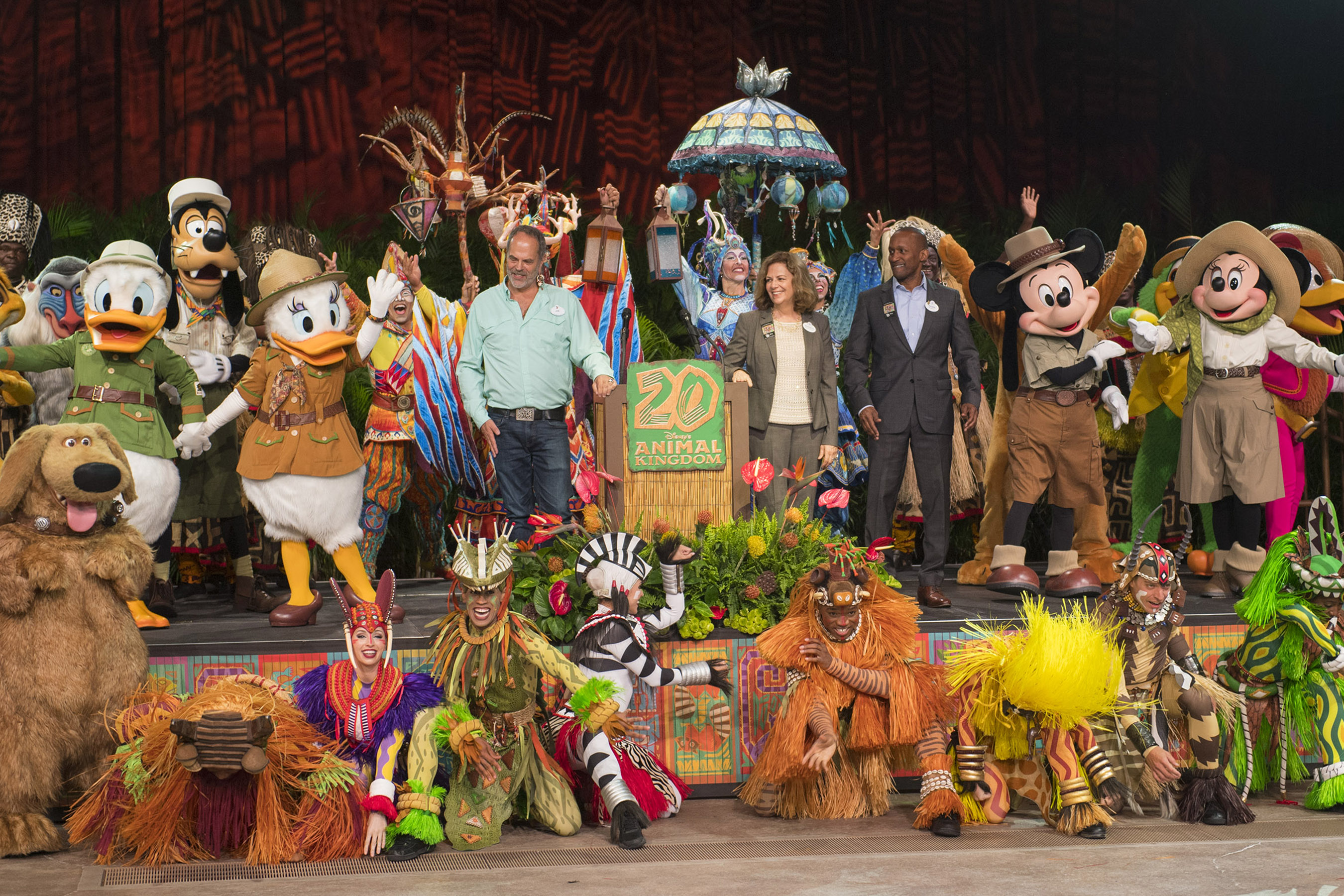 """New Species of Theme Park."" Disney's Animal Kingdom Marks 20-Year Anniversary in Special Earth Day Ceremonies"